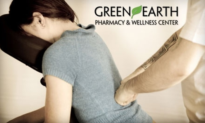 Green Earth Pharmacy - Downtown: $10 for a 30-Minute Chair Massage at Green Earth Pharmacy ($30 Value)