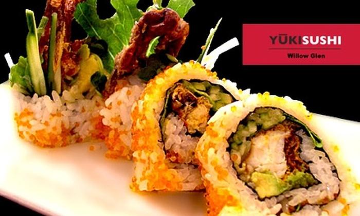 Yuki Sushi - Willow Glen: $20 for $40 Worth of Fresh Sushi, Drinks, and More at Yuki Sushi Willow Glen