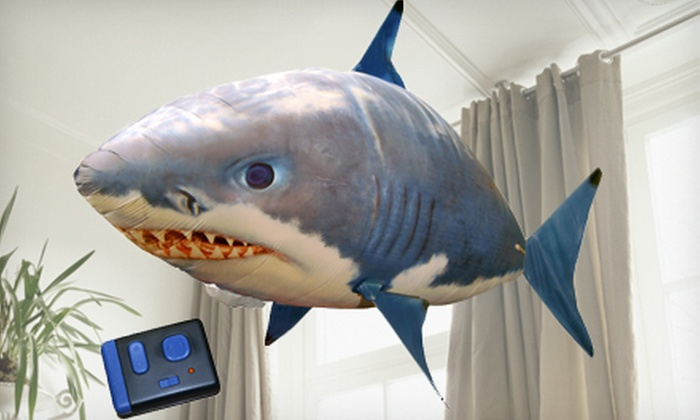 Giant Remote-Controlled Air Swimmer: $25 for a Giant Remote-Controlled Air Swimmer Flying Shark or Clownfish ($42 Value)