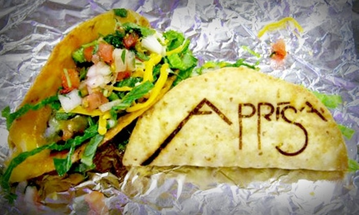 Aprisa Mexican Cuisine - Hosford - Abernethy: $3 for $7 Worth of Fresh, Festive Fare and Drinks at Aprisa Mexican Cuisine