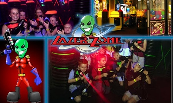 LazerZone - Multiple Locations: $10 for Unlimited Laser Tag for a Day at LazerZone ($21 Value)