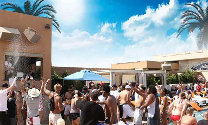 Sapphire Pool & Day Club - Las Vegas: Cabana and Daybed Entry with Transportation and Drinks @ Sapphire Pool (Up to 78% Off). Five Options Available.