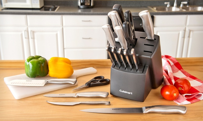 Cuisinart Forged Stainless-Steel Knife Block Set: $54.99 for a Cuisinart 17-Piece Forged Stainless Steel Cutlery Set ($169.99 List Price). Free Shipping and Free Returns.