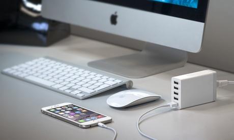 Hub di ricarica con 5 porte USB. Vari colori disponibili