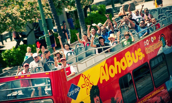 AlohaBus - Hickham: Unlimited Bus-Tour Rides for One, Three, or Five Days from AlohaBus (Up to 58% Off)
