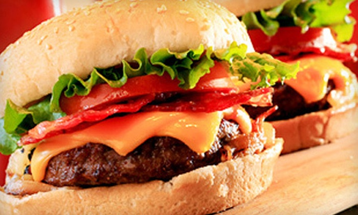 Top Burger - Downtown: $7.50 for a Hamburger Meal for Two with French Fries at Top Burger ($14.96 Value)