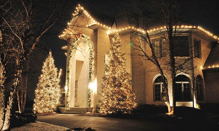 Worry Free Lawn Care - Oklahoma City: Christmas-Light Installation from Worry Free Lawn Care (Half Off). Three Options Available.