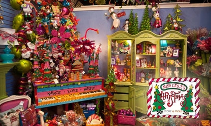 Miss Cayce's Christmas Store  - Fairmont Park: $10 for $20 Worth of Holiday Goods at Miss Cayce's Christmas Store