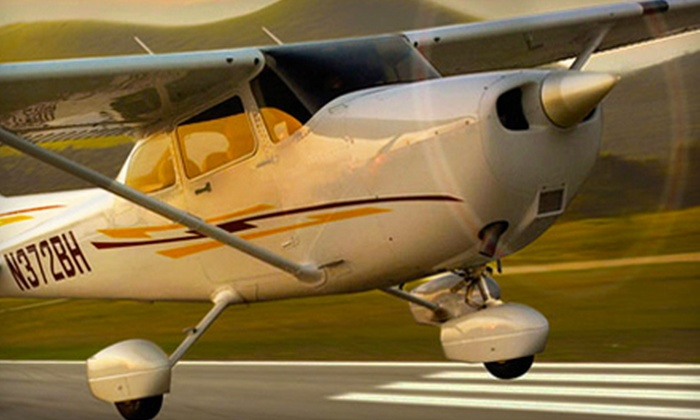 Burlington Aviation - Burlington: 30-Minute or One-Hour Introductory Flight Lesson at Burlington Aviation