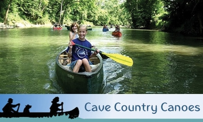 Cave Country Canoes - Milltown: Half-Day Rentals at Cave Country Canoes. Choose from Canoe or Kayak Rental (Up to $29 Value).