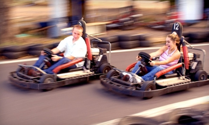 Boschertown Grand Prix Racing - Saint Charles: $20 for Two 12-Lap Go-Kart, Double Seater, or Sprint Kart Rides at Boschertown Grand Prix Racing in St. Charles (Up to $72 Value)
