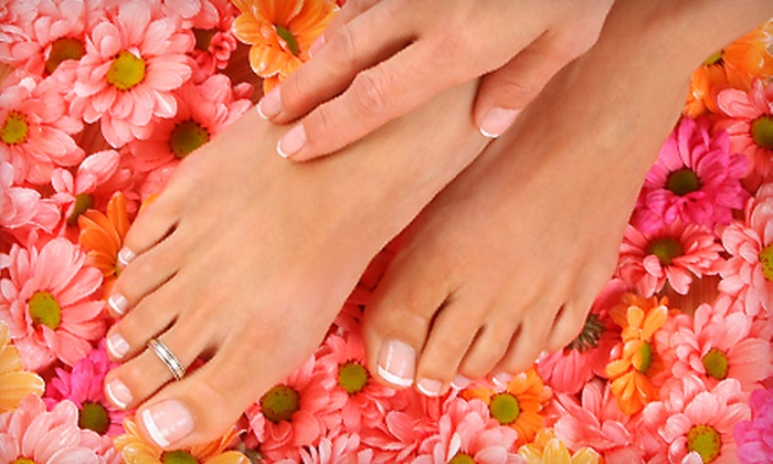 Oasis Pamper Bar - Longfellow: Oasis or Grand Mani-Pedi with Complimentary Mimosa at Oasis Pamper Bar in Emeryville (Up to 67% Off)