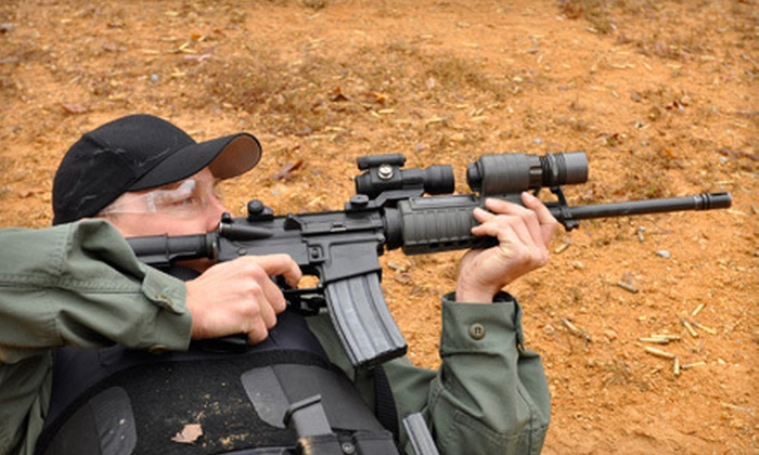 L & L Machine Guns - Tulsa: Shooting-Range Package with Gun Rental, Ammo, and Range Fees for One or Two at L & L Machine Guns (Up to 64% Off)