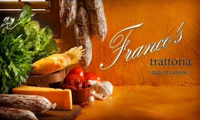 Franco's Trattoria - East Falls: $15 for $30 Worth of Italian Cuisine & Drinks at Franco's Trattoria