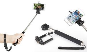 Swisstek Bluetooth Selfie Stick With Built-in Remote Shutter