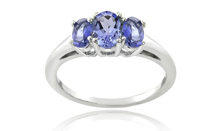 Genuine Tanzanite 3-Stone Ring