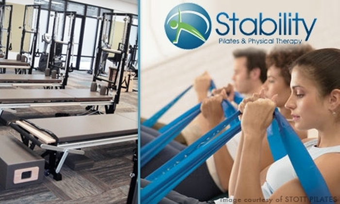 Stability Pilates and Physical Therapy - Sandy Springs: $23 for Three Pilates Mat or Yoga Classes at Stability Pilates and Physical Therapy ($60 Value)