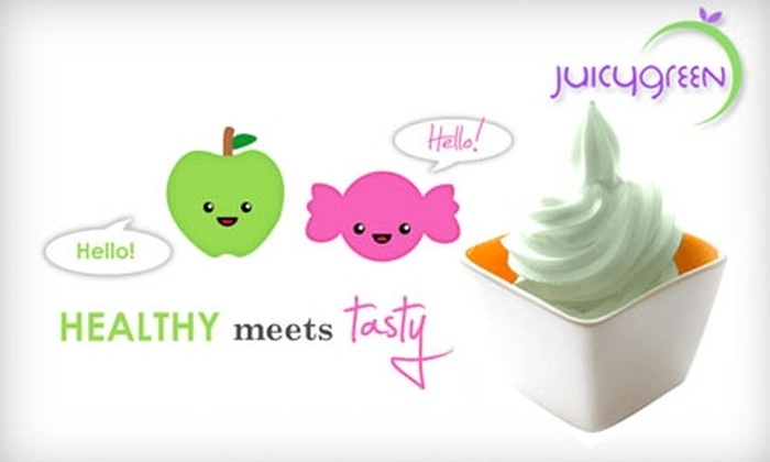 Juicy Green - Multiple Locations: $5 for $10 Worth of Frozen Yogurt and More at Juicy Green in Norcross and Atlanta