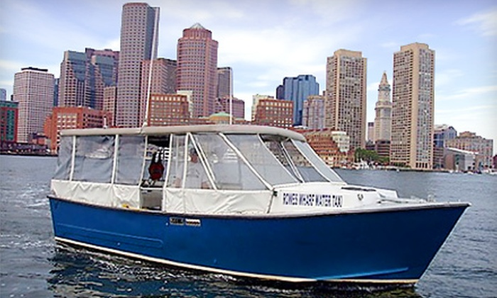 Rowes Wharf Water Transport - Boston Green Cruises: Round-Trip Water-Taxi Tickets or Tour of Boston Harbor and the Charles River from Rowes Wharf Water Transport. Options for Two or Four People Available.