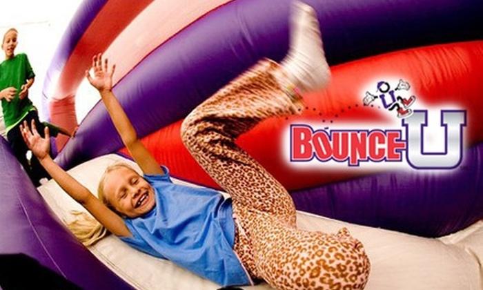 BounceU Indianapolis - Fishers: Bouncy, Kid-Friendly Fun at BounceU. Choose from Two Options.