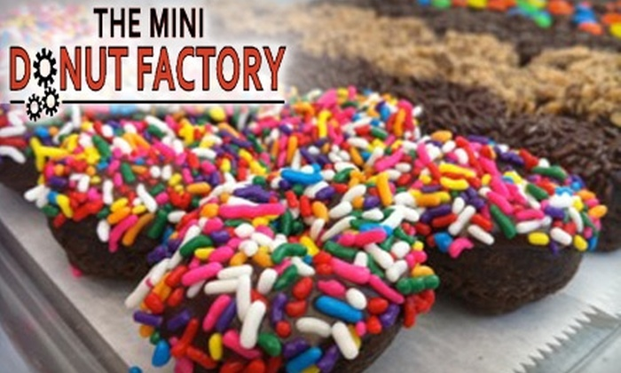 Mini Donut Factory - Multiple Locations: $5 for $10 Worth of Donuts and Drinks at The Mini Donut Factory