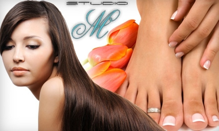 Studio M - Upland: $25 for a Manicure/Pedicure ($50 Value) or $25 for a Haircut (Up to $55 Value) Plus 20% Off of Color at Studio M