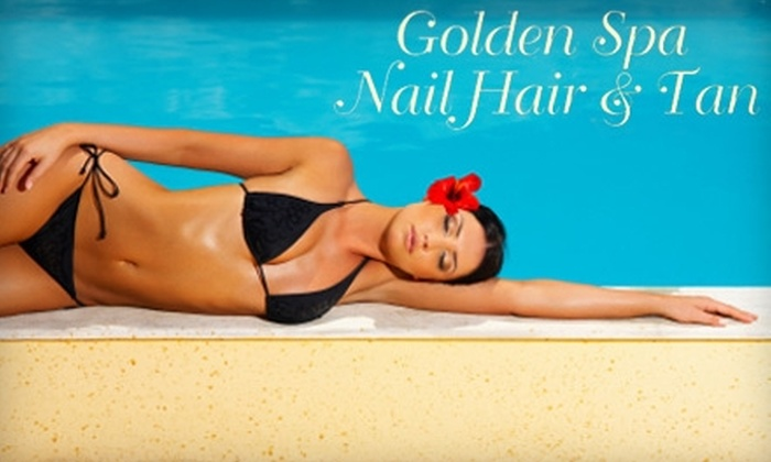 Golden Spa Nail Hair & Tan - Tillman: $12 for One Mystic HD Spray Tan or Ultra-Bronze Tanning Session at Golden Spa Nail Hair & Tan ($25 Value)
