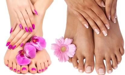 One Regular Mani-Pedi or Gel Manicure and Regular Pedicure at Upper Cuts Salon and Spa (Up to 54% Off)