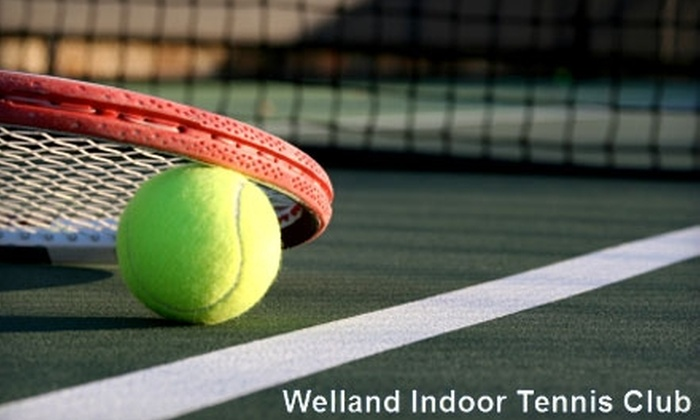Welland Indoor Tennis Club - Welland: $60 for Five Guest Passes and Five 60-Minute Court Fees at Welland Indoor Tennis Club (Up to $177.50 Value)
