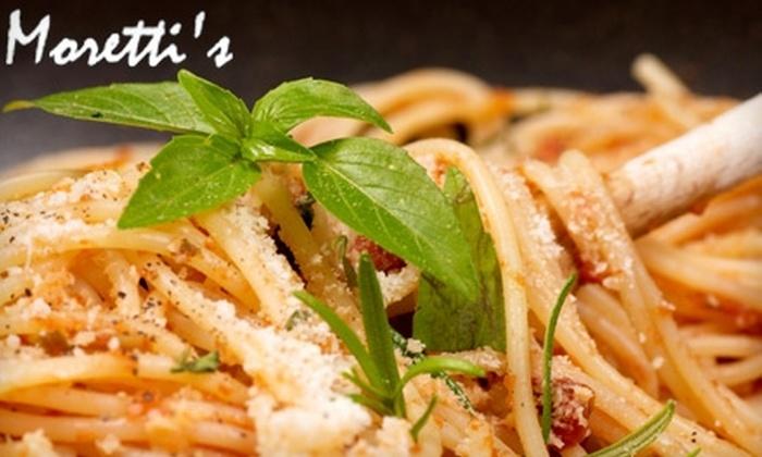 Moretti's of Arlington - Upper Arlington: $15 for $30 Worth of Italian Fare and Drinks at Moretti's of Arlington