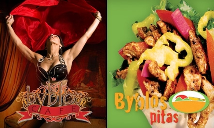 Byblos - Multiple Locations: Lebanese Fare and Drinks at Either Byblos Cafe or Byblos Pitas. Choose from Two Options.