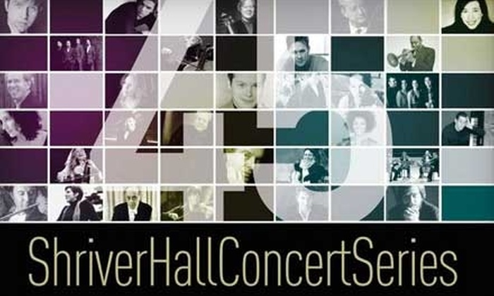 Shriver Hall Concert Series - Johns-Hopkins - Homewood: $19 for One Ticket to a Performance in the Shriver Hall Concert Series ($38 Value). Choose from Three Options.