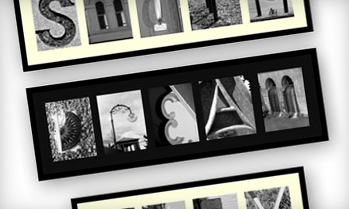 Alpha Photos: $25 for $50 Toward Personalized Alphabet Photography from Alpha Photos Online