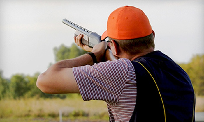 Golden Gun Club - Watkins: Clay-Shooting Outing with Lunch for Two or Four at Golden Gun Club in Watkins (Up to 60% Off). Four Options Available.