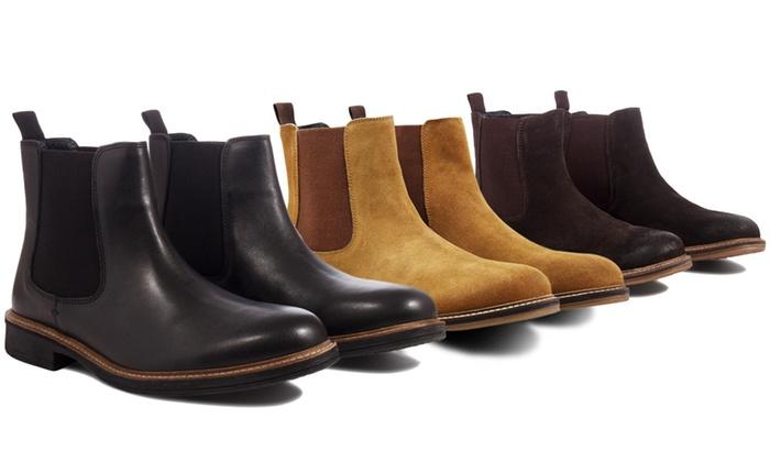 b153d290377d25 Chelsea-Boots aus Leder
