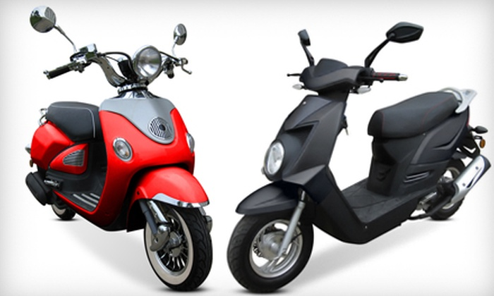 Chironex Motorsports Inc. - Near North Side: Chase 50 Scooter or Vinny 50 Scooter Including Shipping from Chironex Motorsports Inc. (40% Off)