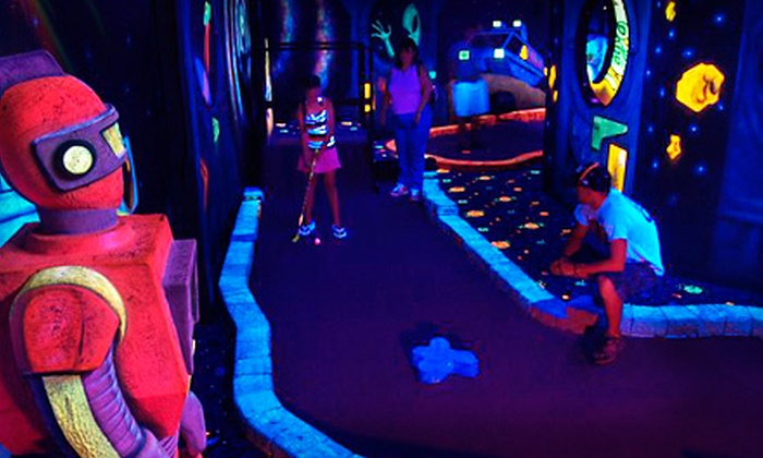 Lazer Port Fun Center - Pigeon Forge: $18 for Putt & Play Package for Five at Lazer Port Fun Center in Pigeon Forge ($55 Value)