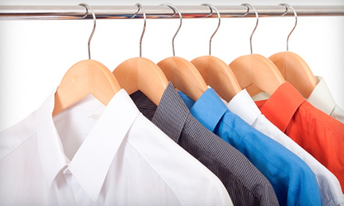 Champion Cleaners and Tuxedo Rentals - Multiple Locations: $10 for $20 Worth of Dry-Cleaning Services at Champion Cleaners and Tuxedo Rentals. Two Locations Available.