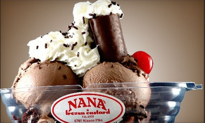 Nana's Frozen Custard - 3: $4 for $8 Worth of Luscious Treats at Nana's Frozen Custard