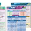 Math Review or Algebra Laminated Study Guide Bundles