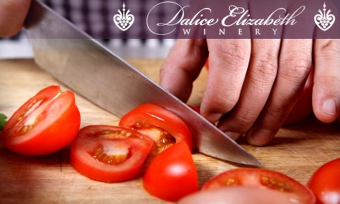Dalice Elizabeth Winery - Preston: $47 for a Rustic Italian Cooking Class With Two Glasses of Wine at Dalice Elizabeth Winery