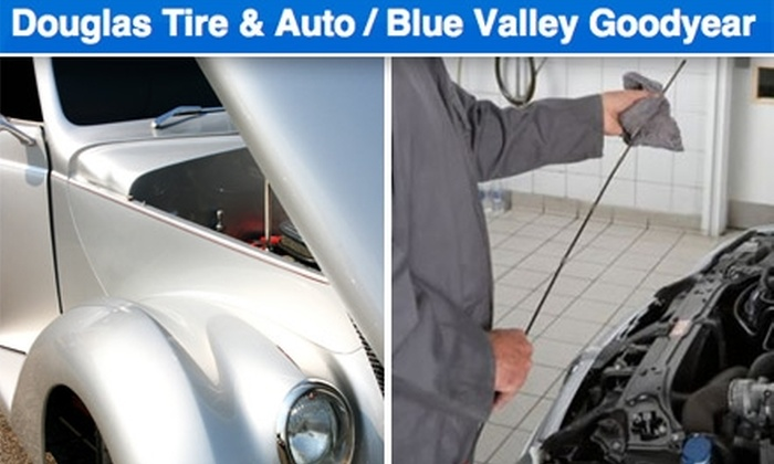 Tire & Auto/Blue Valley Goodyear - Multiple Locations: $15 For Lube, Filter, and Oil Change at Douglas Tire & Auto/Blue Valley Goodyear ($37 Value)
