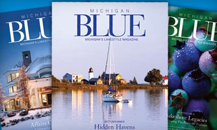"""Michigan Blue"" Magazine: $12 for Two-Year Subscription to ""Michigan Blue"" Magazine ($24 Value)"