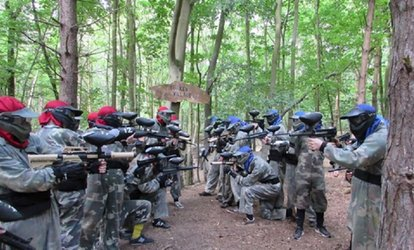 image for Paintball With Lunch for Four with 100 Balls at Top Dog Paintball
