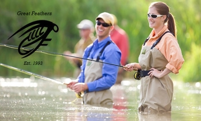 Great Feathers Fly Shop - 8: $40 for a Two-Hour Fly-Fishing Lesson with Great Feathers Fly Shop ($130 Value)