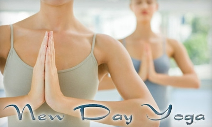 New Day Yoga - Multiple Locations: $15 for Five Yoga Classes, Five Pilates Classes, and Five Free Acupressure Massage Sessions at New Day Yoga ($110 Value)