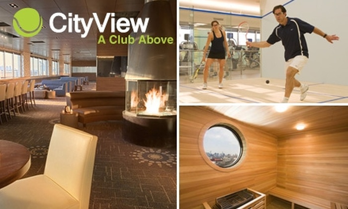 CityView Racquet Club - Sunnyside: $69 for a One-Month Squash Membership, Two Squash Round-Robins, Squash Racquet Rental, and 15% Off Spa Services at CityView Racquet Club ($245 Value)