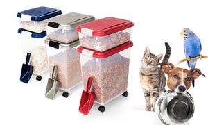 Three-piece Pet-food Storage Container Set