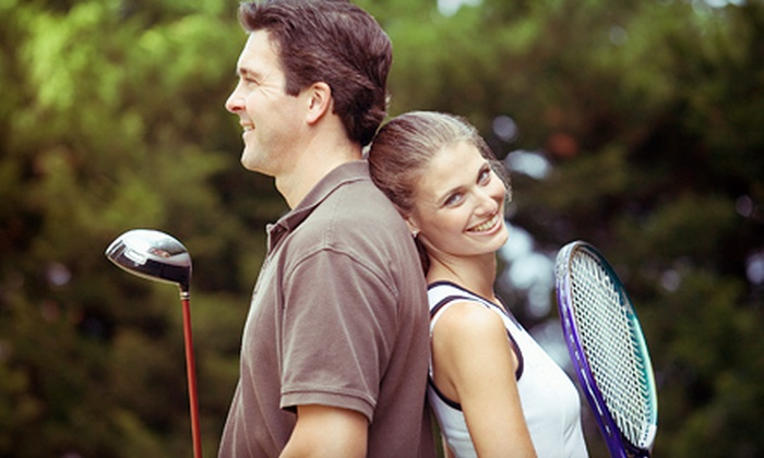 Play Golf and Tennis - Multiple Locations: One Golf Lesson with Two Clinics or Two Tennis Lessons with Two Clinics at Play Golf and Tennis (51% Off)