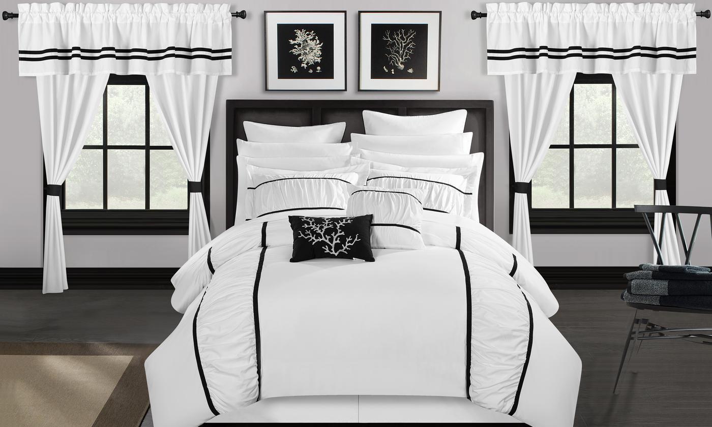 24-Piece Bedroom in a Bag Queen Comforter Set (Multi Colors)